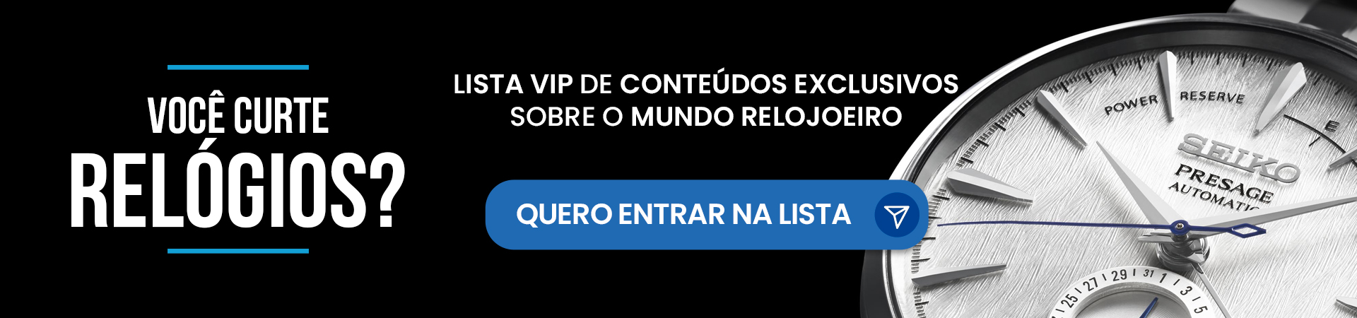 Lista VIP - Mundo Relojoeiro